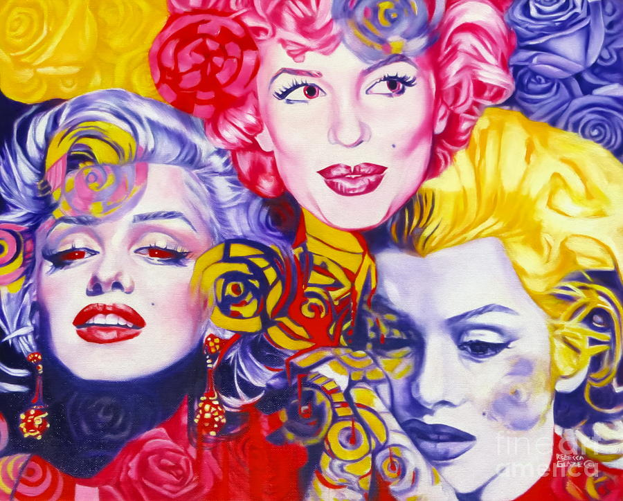 Marilyn Monroe Painting - Bouquet Of Marilyn by Rebecca Glaze