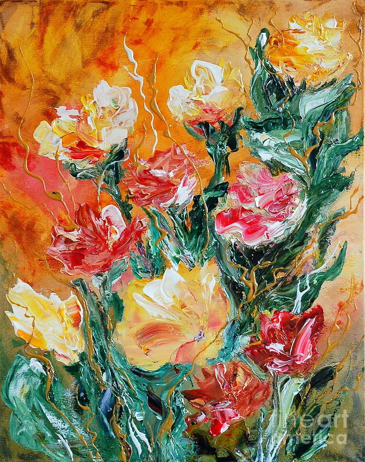 Abstract Painting - Bouquet by Teresa Wegrzyn