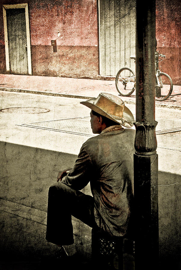 Nola Photograph - Bourbon Cowboy In New Orleans by Ray Devlin