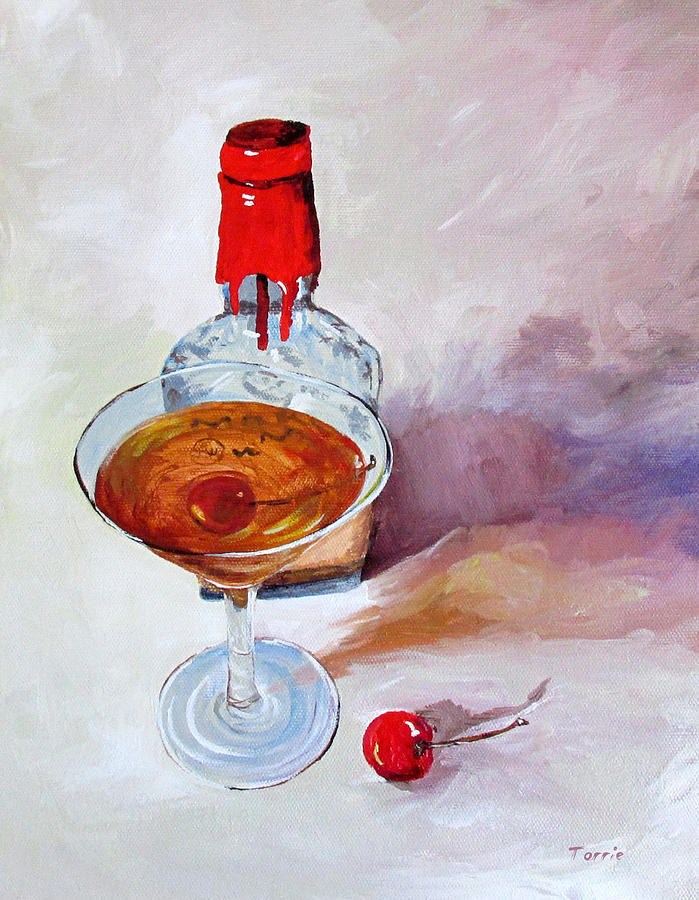Makers Mark Painting - Bourbon Manhattan by Torrie Smiley