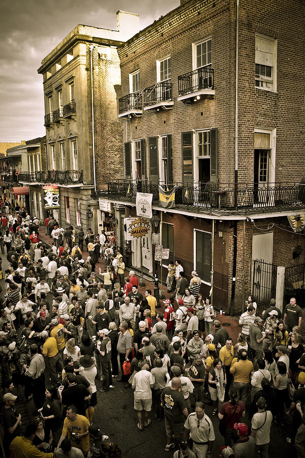 New Orleans Photograph - Bourbon Street Party by Ray Devlin