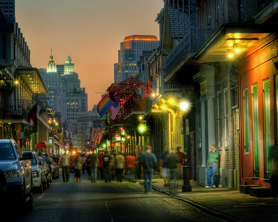 New Orleans Photograph - Bourbon Sunset by Ray Devlin
