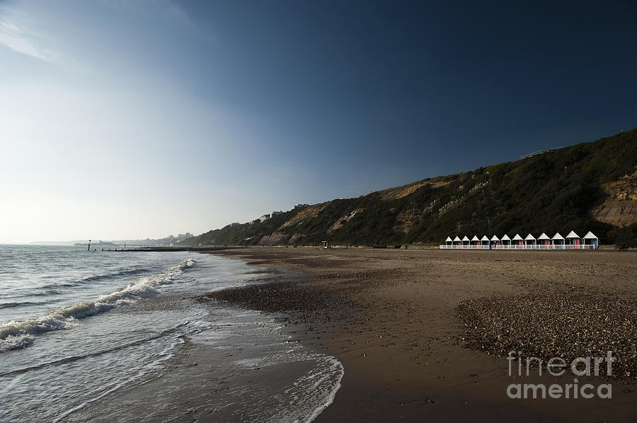 Autumn Photograph - Bournemouth Beach Huts by Anne Gilbert
