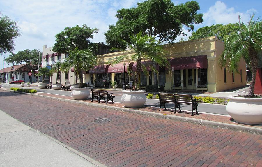 Boutiques Photograph - Boutiques In Tarpon Springs by Nancy Hopkins