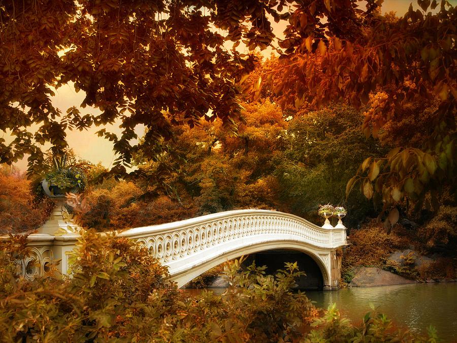 Bow Bridge Fall Fantasy Photograph By Jessica Jenney