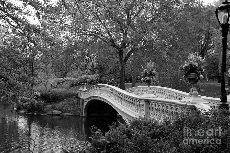 Christiane White bow bridge nyc in black and white photograph by christiane schulze