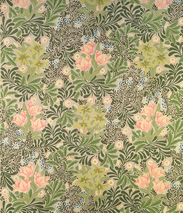 Floral Tapestry - Textile - Bower Design by William Morris