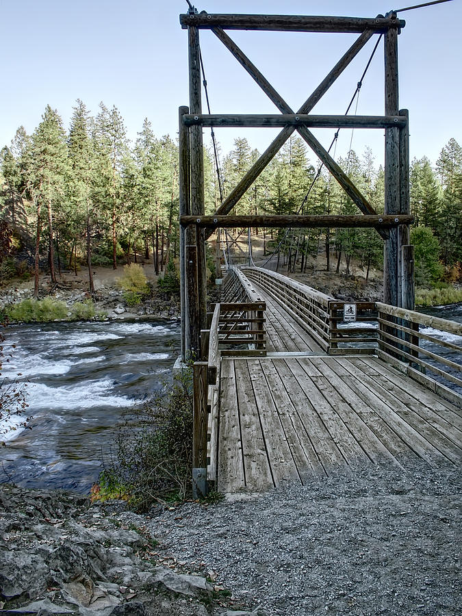 Riverside State Park Photograph - Bowl And Pitcher Bridge - Spokane Washington by Daniel Hagerman