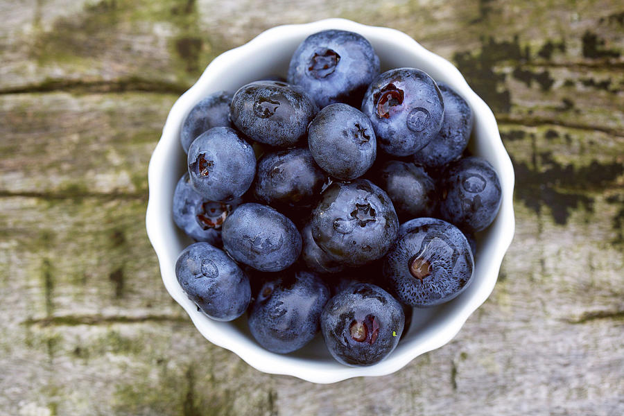 Bowl Of Blueberries Photograph by Marvin Fox