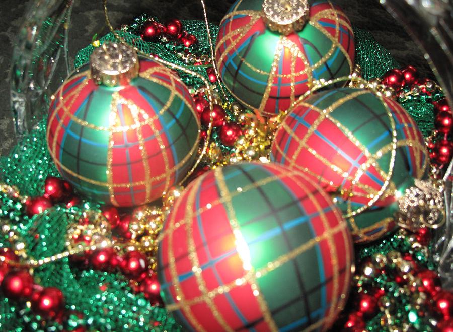 Christmas Colors.Bowl Of Christmas Colors