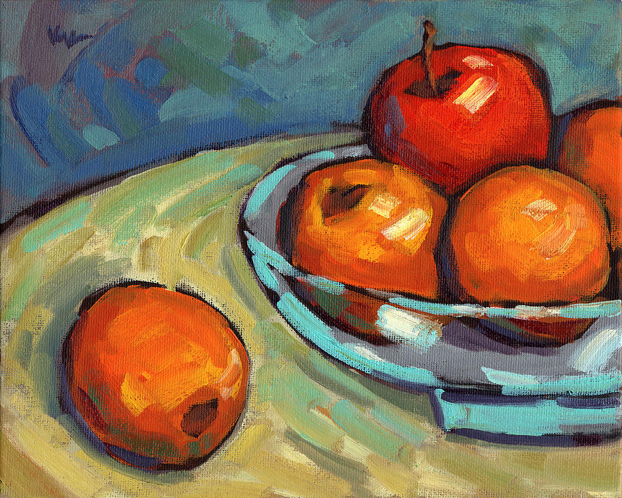 Lemons Painting - Bowl Of Fruit 2 by Konnie Kim