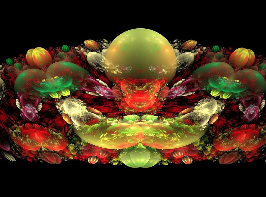 Fractal Painting - Bowl Of Fruit by Bruce Nutting