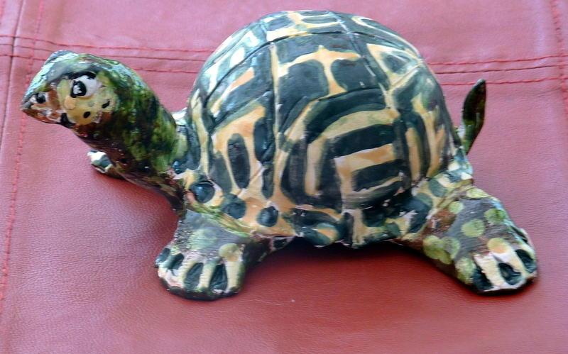 Turtle Sculpture - Box Turtle Sculptue by Debbie Limoli