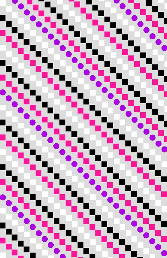 Digital Digital Art - Boxed Stripe by Louisa Hereford