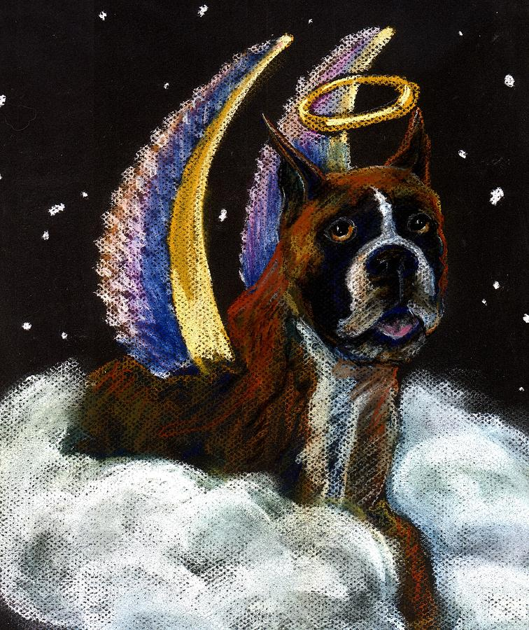 Boxer Pastel - Boxer Angel by Darlene Grubbs