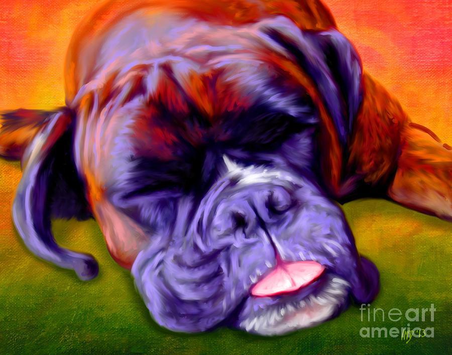 Dog Painting - Boxer by Iain McDonald