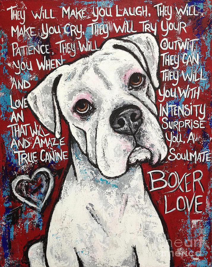 Boxer Dog Paintings | Fine Art America