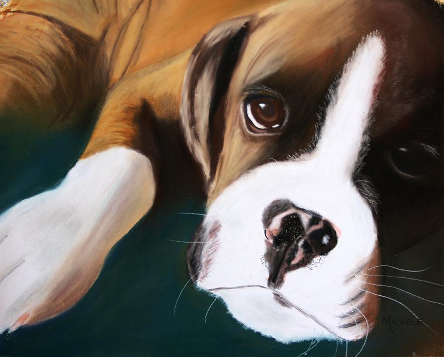 Dogs Pastel - Boxer by Michele Turney