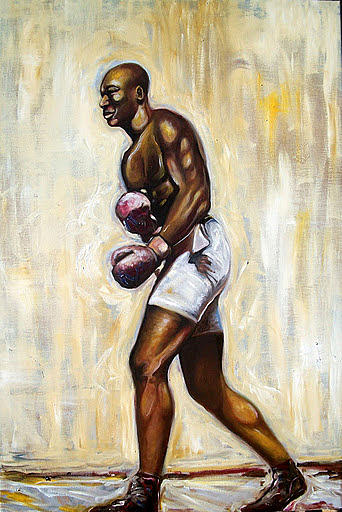 Emery Franklin  Painting - Boxing by Emery Franklin