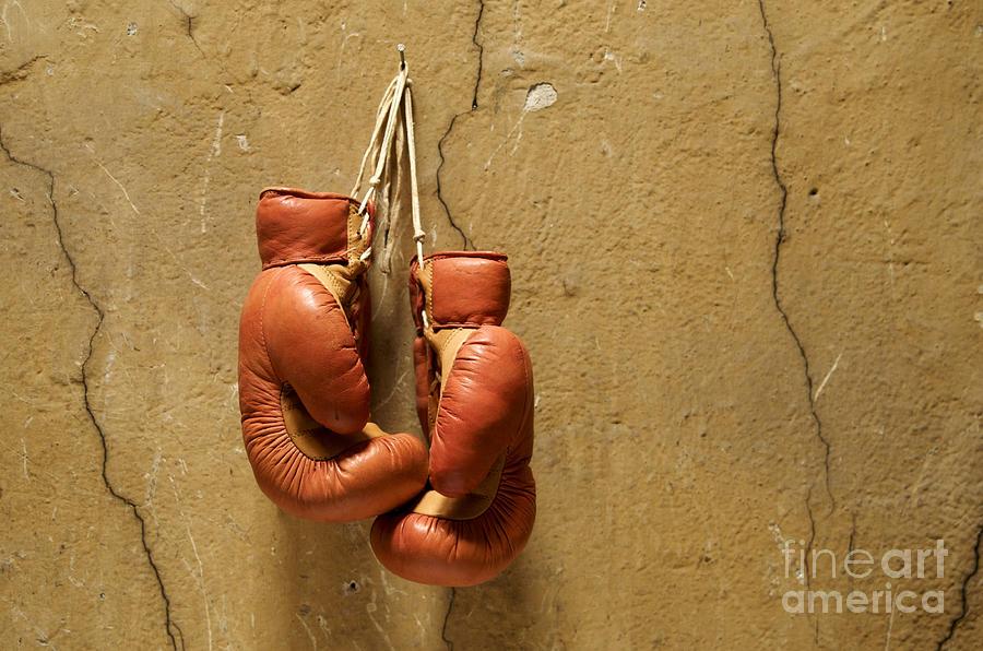 Strength Photograph - Boxing Gloves by Bernard Jaubert