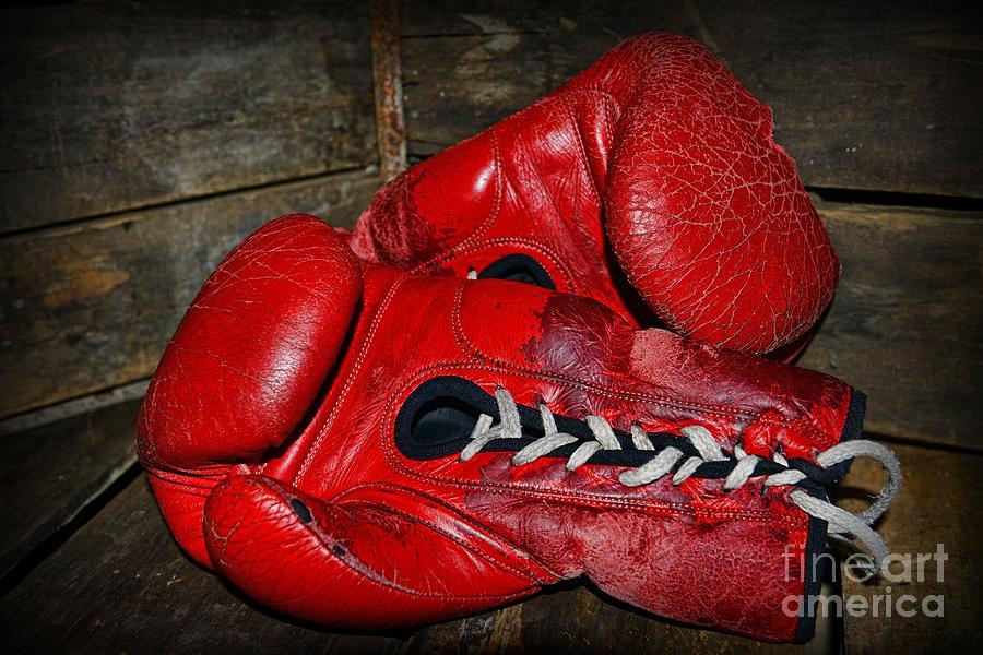 Paul Ward Photograph - Boxing Gloves by Paul Ward