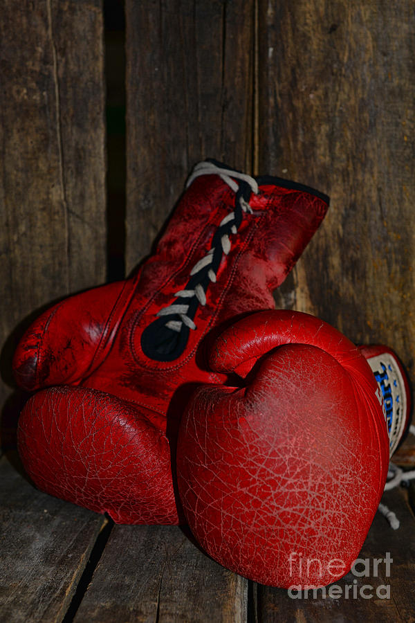 Paul Ward Photograph - Boxing Gloves Worn Out by Paul Ward