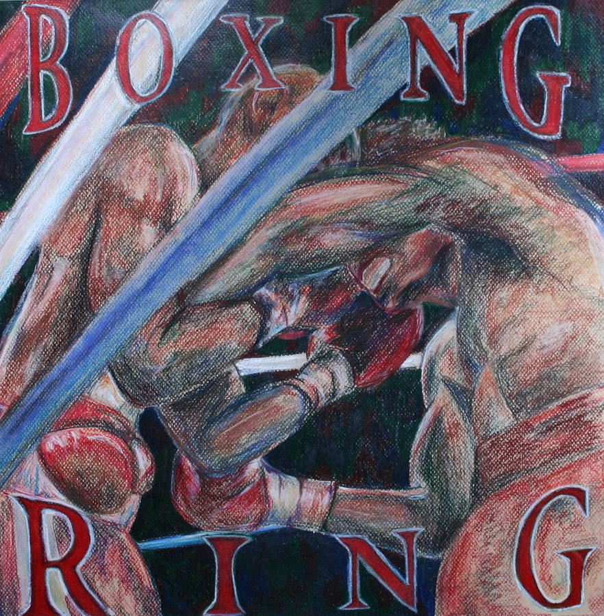 Boxing Drawing - Boxing Ring by Kate Fortin
