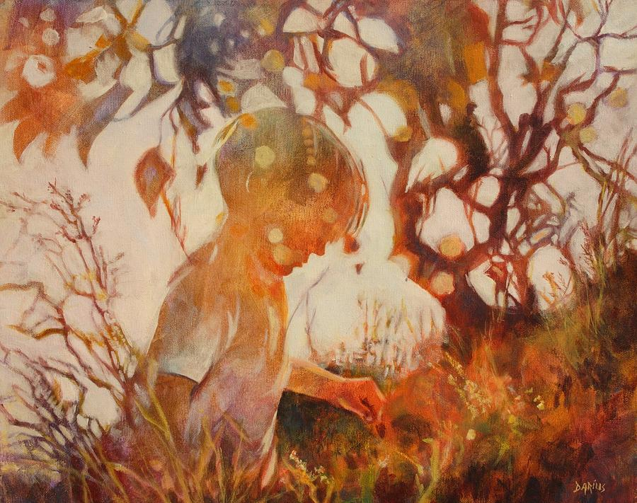 Boy In The Grass Painting