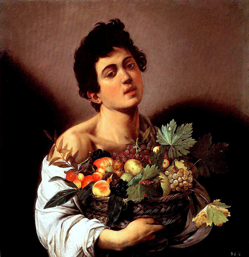 Boy with a Basket of Fruits by Caravaggio