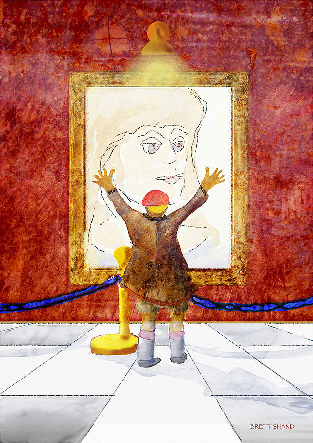 Boy With A Portrait Of His Mother Digital Art by Brett Shand