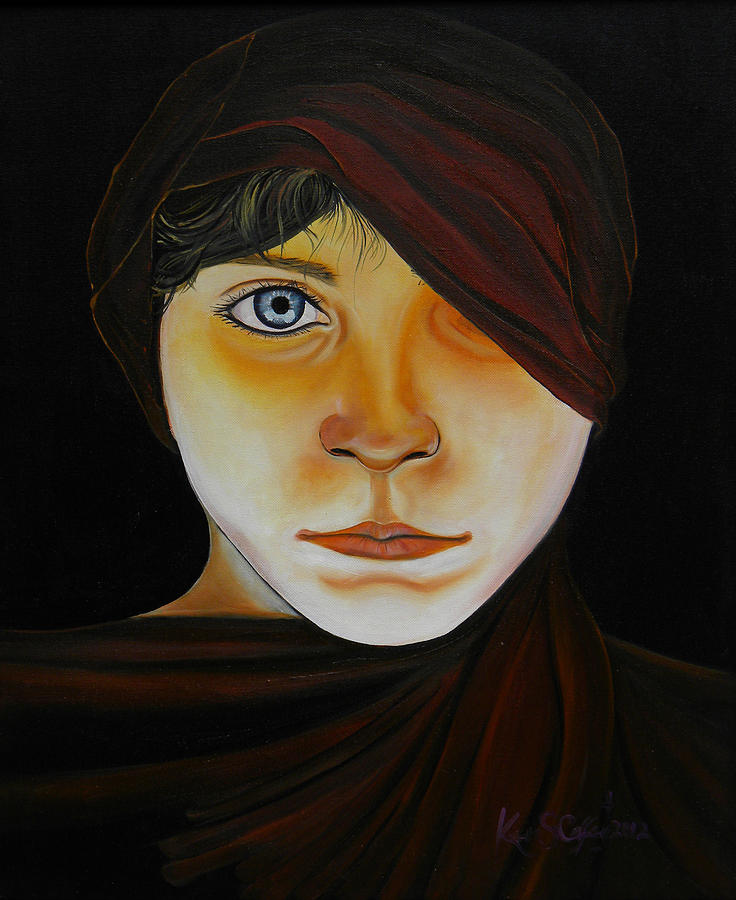 Ethnic Painting - Boy With Hood by Ken Caffey