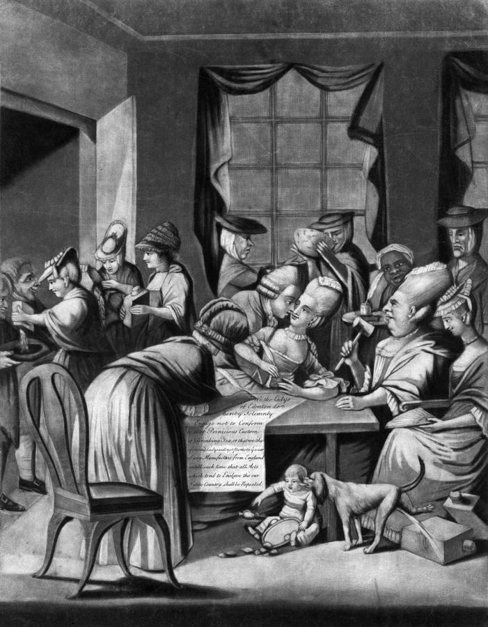 1774 Photograph - Boycott Of British Tea by Granger