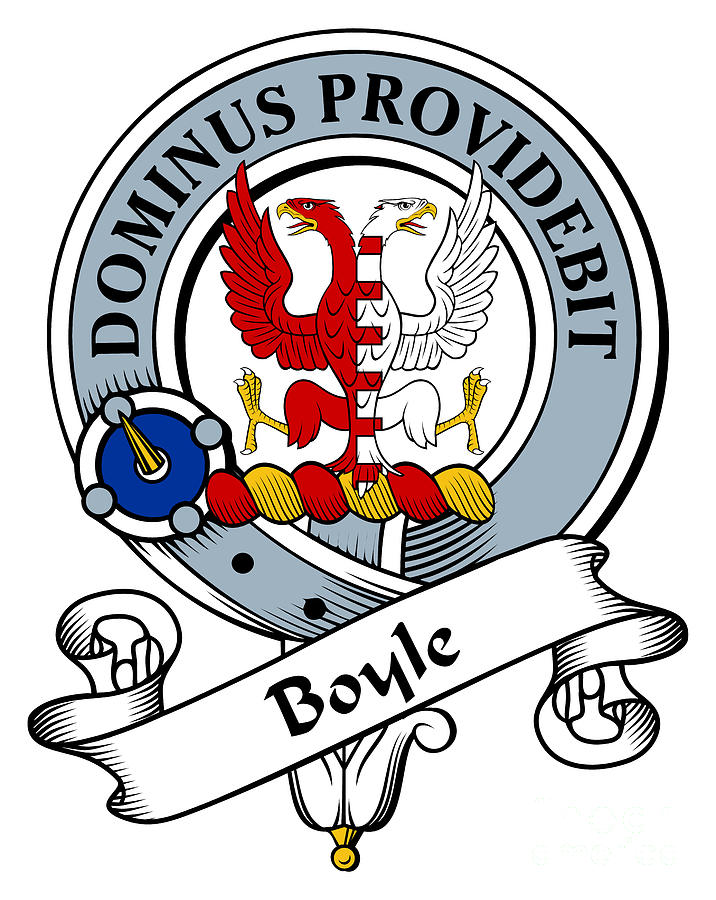 Boyle Clan Crest Drawing - Boyle Clan Badge by Heraldry