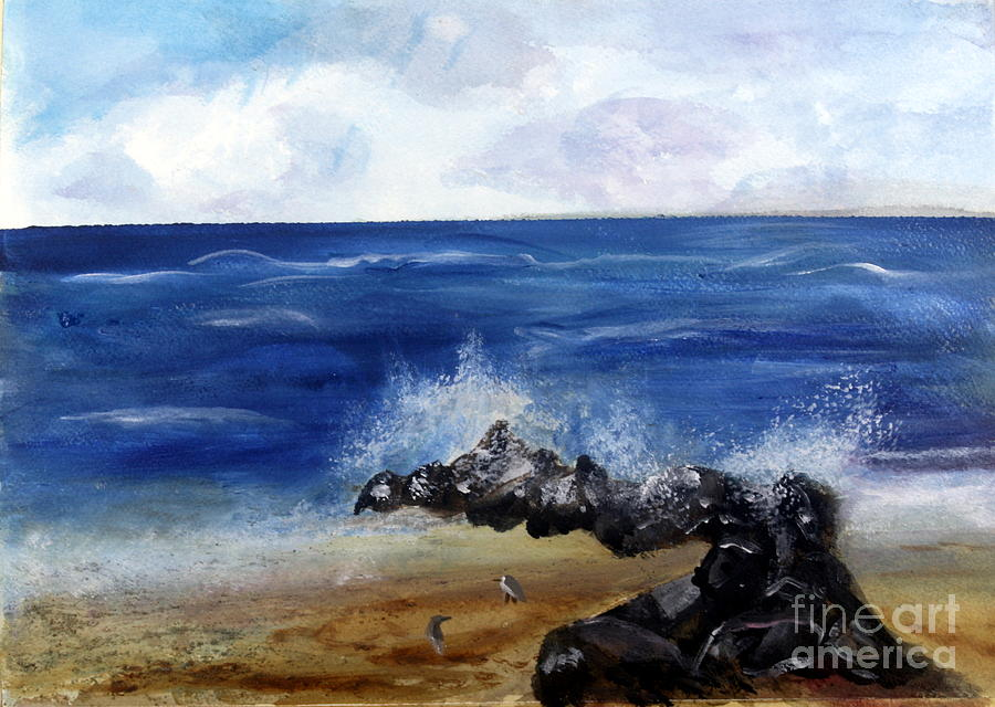 Beach Painting - Boynton Waves by Donna Walsh