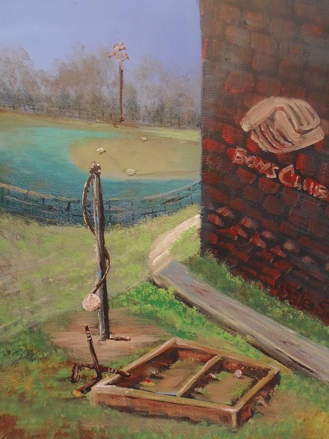 Boys Club Painting - Boys Club Series-baseball Tetherball Box Hockey by Dale Smith