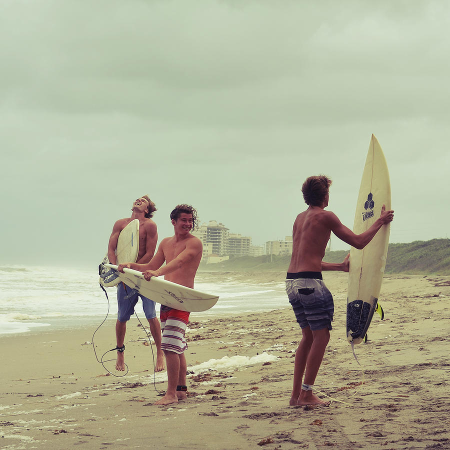 Surfer Photograph - Boys Of Summer by Laura Fasulo