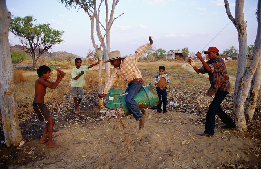 Boys Practising Rodeo Skills On 44 Photograph by Richard Ianson