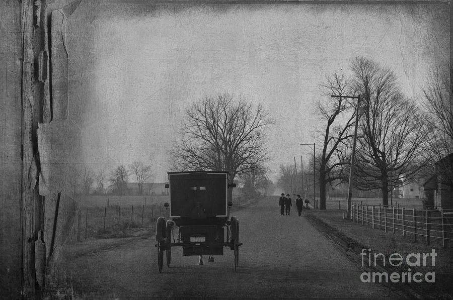 Amish Photograph - Boys To Church by David Arment