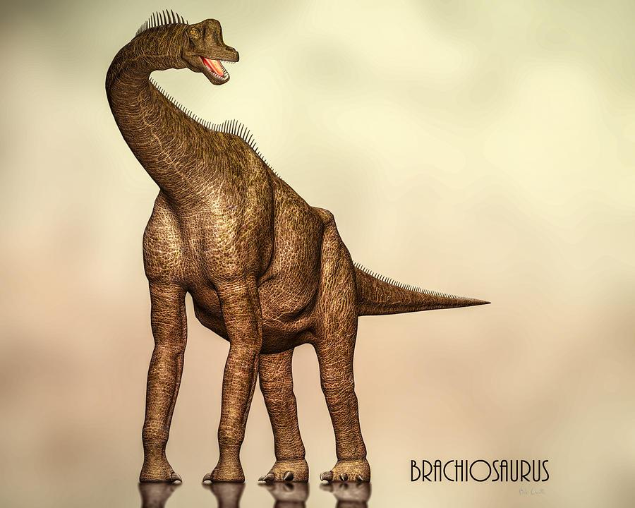 Jurassic Digital Art - Brachiosaurus Dinosaur by Bob Orsillo