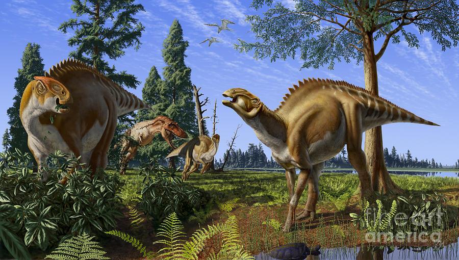 Dinosaur Digital Art - Brachylophosaurus canadensis by Julius Csotonyi
