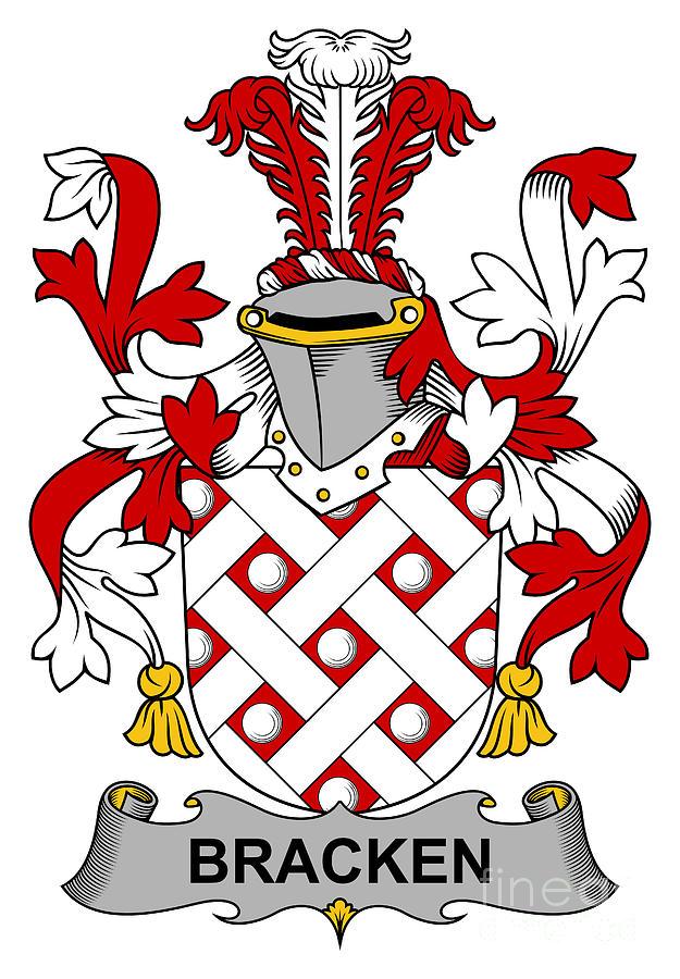 Bracken Digital Art - Bracken Coat of Arms Irish by Heraldry
