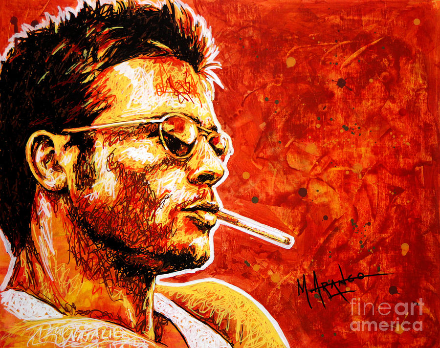 Portrait Painting - Brad by Maria Arango