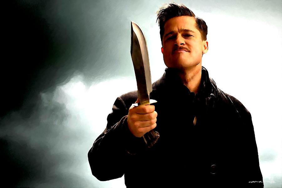 Aldo Raine Digital Art - Brad Pitt @ Inglourious basterds by Tarantino by Gabriel T Toro