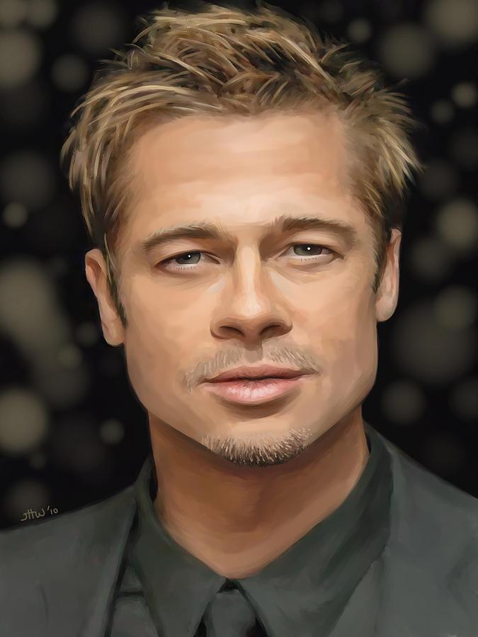 Brad Pitt Painting - Brad Pitt by Jennifer Hotai