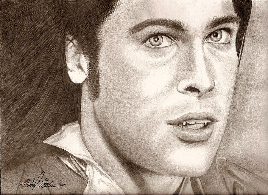 Brad Pitt Digital Art - Brad Pitt Vampire by Michael Mestas