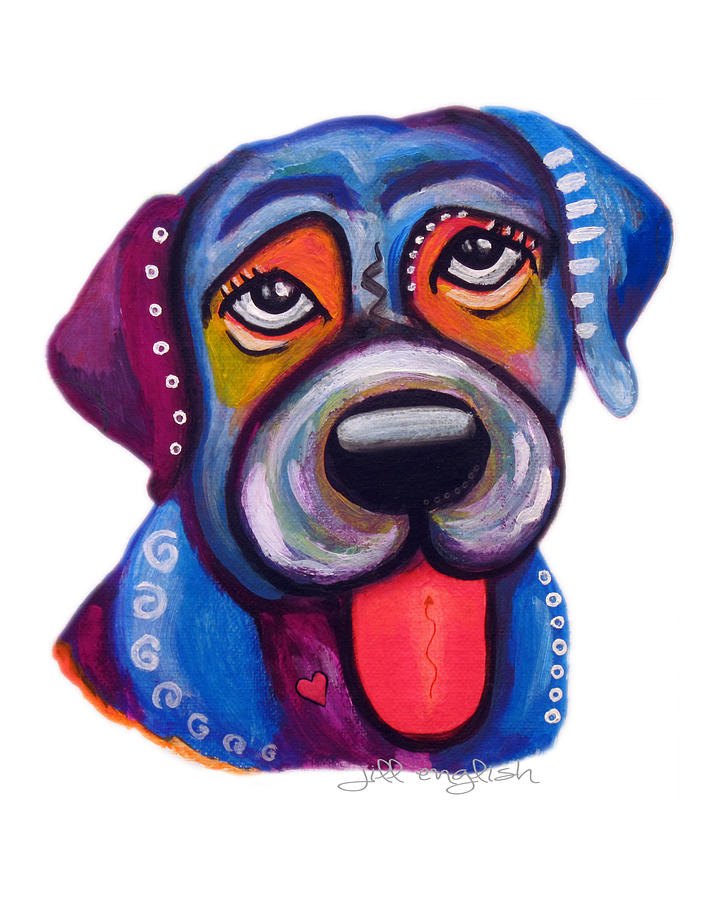 Dogs Painting - Brad The Labrador by Jill English