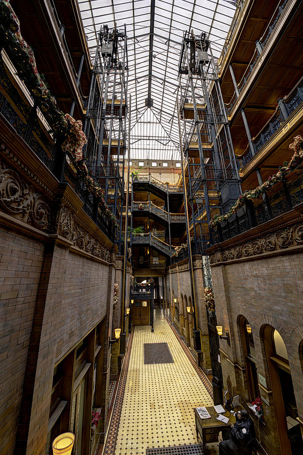 California Landscape Photograph - Bradbury Building by Mike Herdering