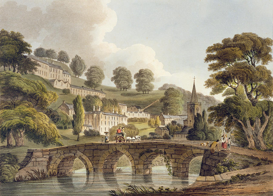 Print Drawing - Bradford, From Bath Illustrated by John Claude Nattes