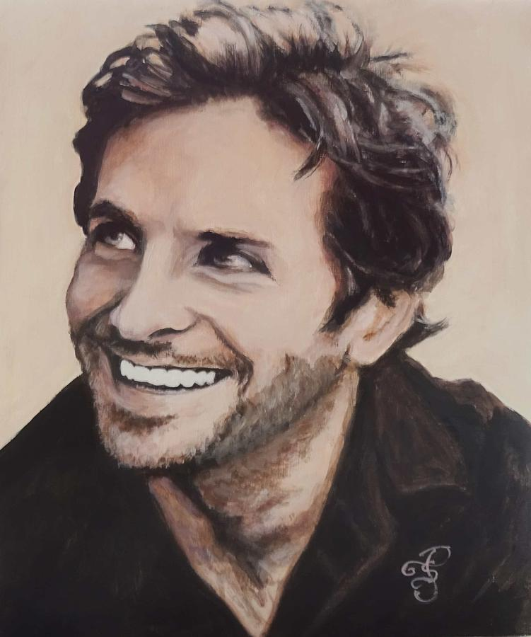 Bradley Cooper Painting - Bradley Cooper by Shirl Theis