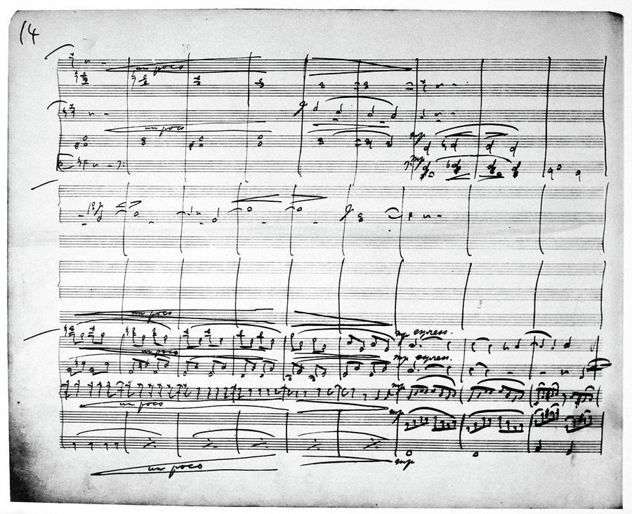 1880 Painting - Brahms Manuscript, 1880 by Granger